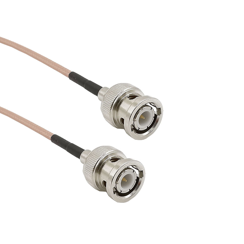 BNC Male To BNC Male RG316 Coax Low Loss HD-SDI Cable RF Coaxial Coax Antenna Pigtail 50 Ohm BNC Connector Adapter 10CM-1M