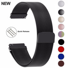 20mm 22mm 18mm Samsung Galaxy Watch Band 42 46mm pasy Loop Milanese pasek ze stali nierdzewnej Active2 40 44 Gear S3 14 16 18 24mm(China)