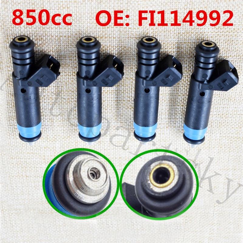 4PCS 1000cc EV1 Siemens Deka Fuel Injector F127B00418 For Ford GM V8 LT1 LS1 LS6