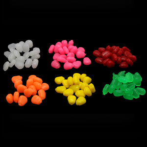 POETRYYI 10pcs/lot Colored Pop Up Carp Fishing Boilies Flavoured Grass Carp Bait Floating Corn Soft Pellet lure 0.3g/pc(China)