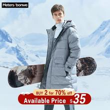 Metersbonwe 2019 Long Down Winter Jackets Business Long Thick Winter Do