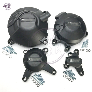 Black Motorcycles Engine Cover Protection Water Pump Covers Case for GB Racing for YAMAHA MT-09 FZ-09 2014-2019