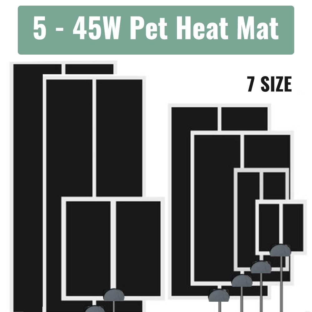 5-45W Reptiles Heat Mat Climbing Pet Warm Heating Pads Adjustable Temperature Controller Mats Reptiles Supplies EU/US/UK/AU Plug