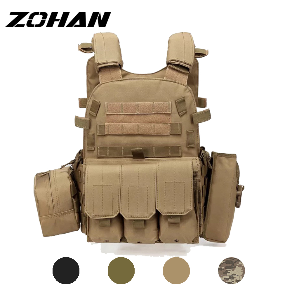 Outlife USMC Airsoft Military Tactical Vest Molle Combat Assault Plate Carrier Tactical Vest 3 Colors CS Outdoor Clothing hunter