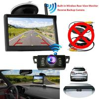 YuanTing Built in Wireless 5'' TFT LCD Color Screen Car Rear View Monitor Reversing Parking Backup Camera Easy Install System