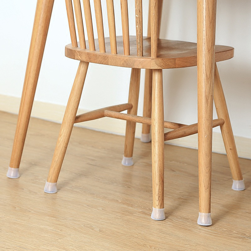 4pc Thick Wear-resistant Non-slip Silicone Table And Chair Foot Cover Furniture Mute Solid Wood Floor Protection Pad Chair Table