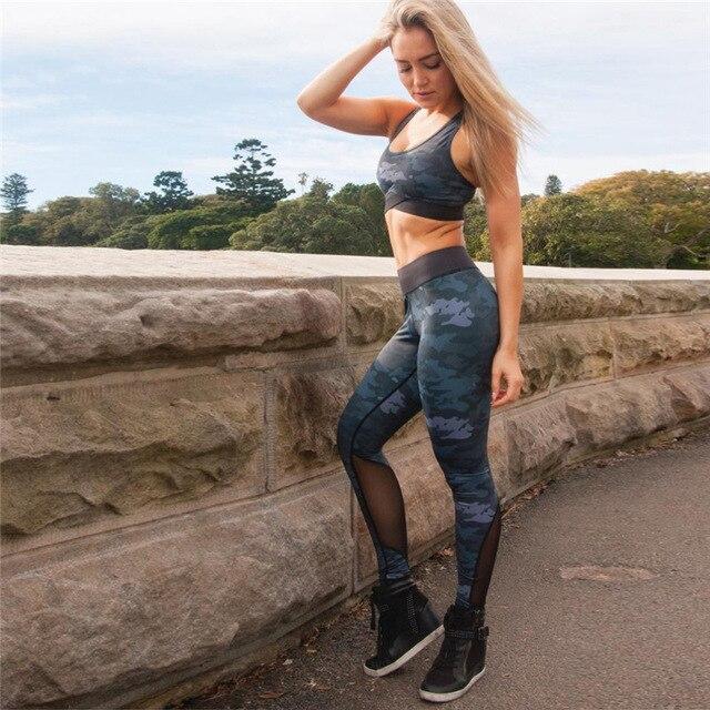 Купить женские бесшовные камуфляжные комплекты для йоги из 2 предметов картинки цена
