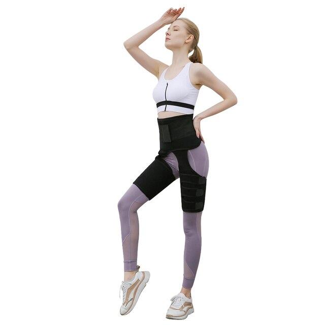 Neoprene Slim Thigh Trimmer Leg Shapers Slimming Belt Waist Trainer Tummy Control Waist Trainer Sweat Pants Shapewear 1