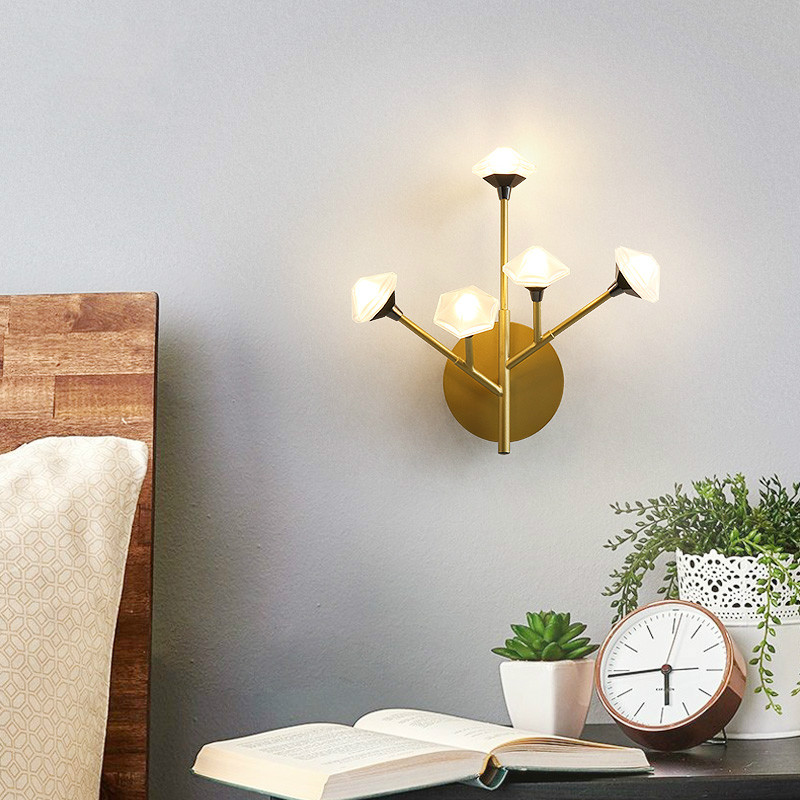 Nordic Wall Lamp Fixture Simple Bedroom Bedside Staircase Hallway Creative Wall Sconce Luxury Background Bathroom Led Wall Light - 3
