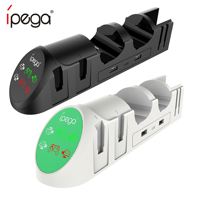 iPega PG 9187 6 in 1 Charging Dock Stand Station Holder Fit for Nintendo Switch Joy Con Pro Game Console Controller Charger