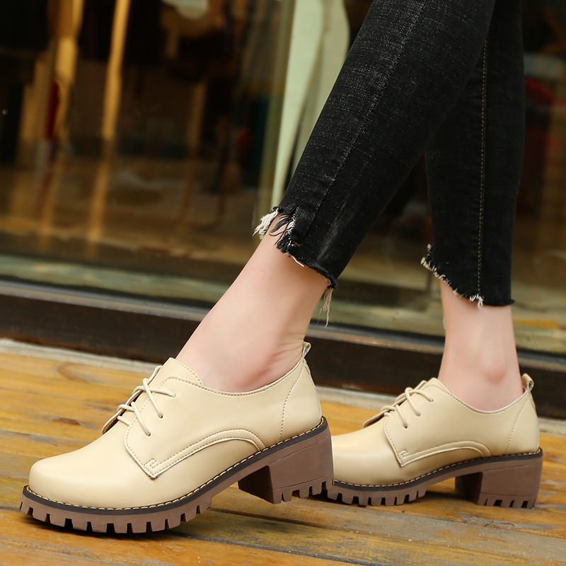 Fall And Spring New Style WOMEN'S Shoes Women's Chunky-Heel Semi-high Heeled Shoes Business Going To Work College Style Casual K
