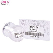 BeautyBigBang Nail Art Stamper Set Kits Rubber Stamp Scraper Clear Jelly Flower Handle Plate Accessories Tool