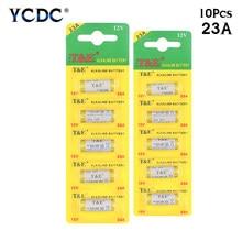 10 pièces nouvelle batterie alcaline YCDC 12 V 23A 12 V 27A 23A 12 V 21/23 A23 E23A MN21 télécommande RC batterie RC partie
