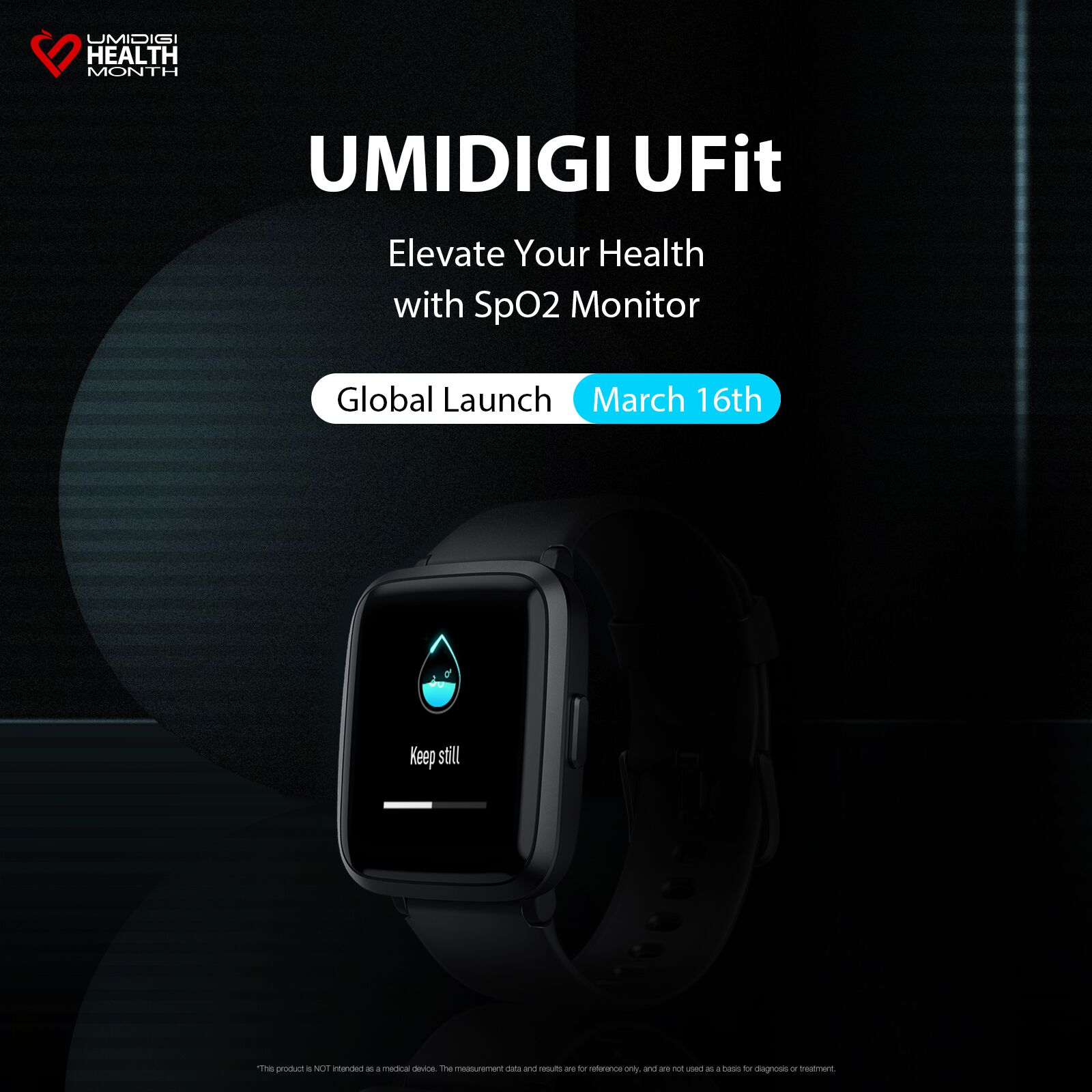UMIDIGI UFit 5ATM Relógio Inteligente de Freqüência Cardíaca À Prova D 'Água Esporte Monitor de Pressão Arterial SmartWatch Banda Rastreador de Fitness Para Homens Feminino
