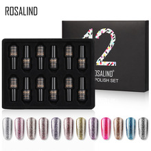 ROSALIND Nail Gel Polish Set For Manicure UV Colors Gel Varnish Semi Permanent Hybrid Nail Art Gel Polish Set & Kits 12PCS/LOT
