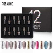 ROSALIND เล็บเจลเล็บชุดโปแลนด์สำหรับเล็บ UV เจลสีเคลือบเงากึ่งถาวร Hybrid เจลทาเล็บชุด & ชุด 12 ชิ้น/ล็อต