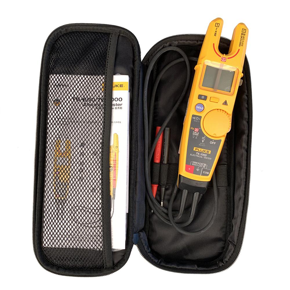 Fluke T6-1000 Clamp Continuity Current Electrical Tester Clamp MeterField Sense WIth Original Fluke Sofyt Case