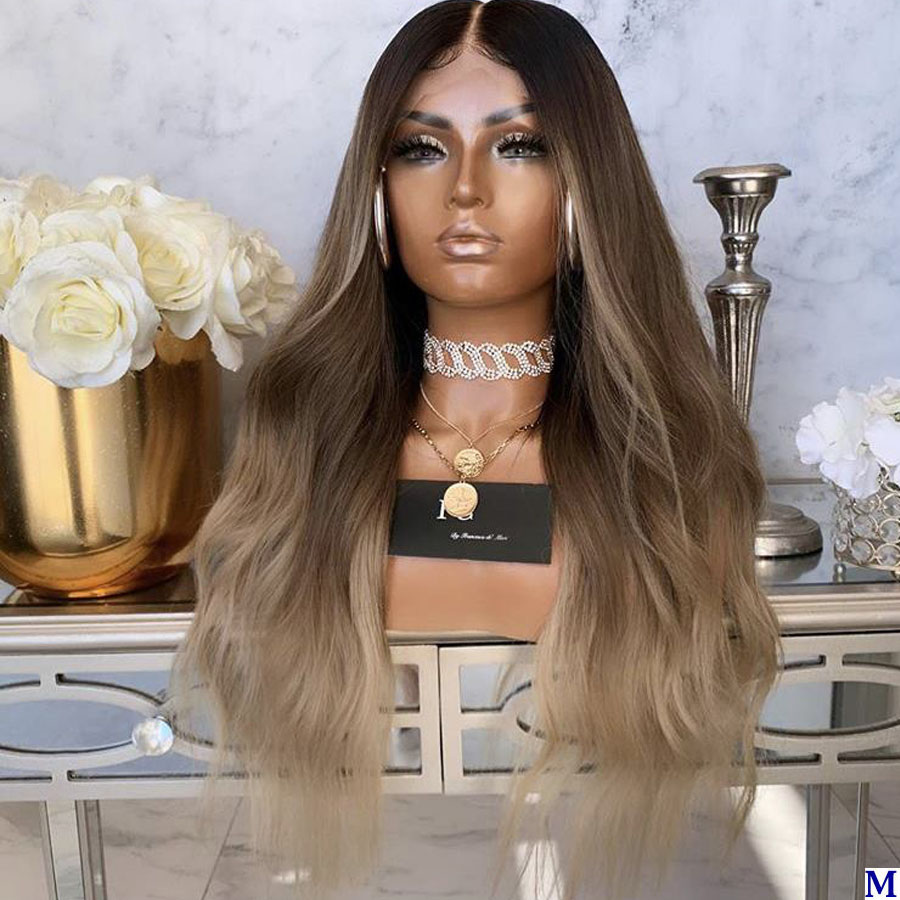 150Density Ombre 3T 4x4 Silk Base Lace Front Human Hair Wigs For Black Women Pre Plucke Body Wave Blonde Full Lace Wigs