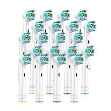 20 cabeças de escova de substituição dos pces para a escova de dentes elétrica oral b antes da alimentação/pro saúde/triumph/3d excel/precisão limpa vitalidade