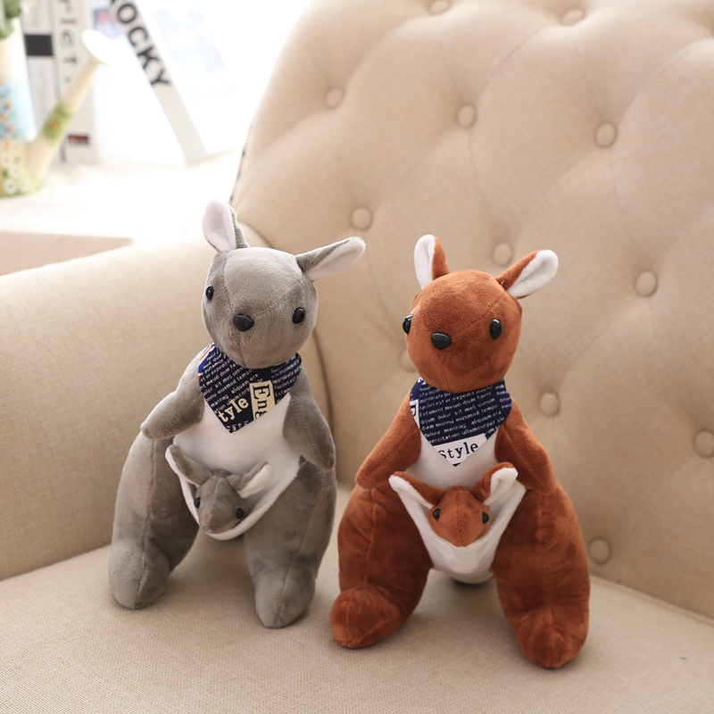 30cm 1pcs Australian Mother And Child Kangaroo Plush Toys Cute Lovely Soft Plush Doll Baby Toys Birthday Gift For Kids Children
