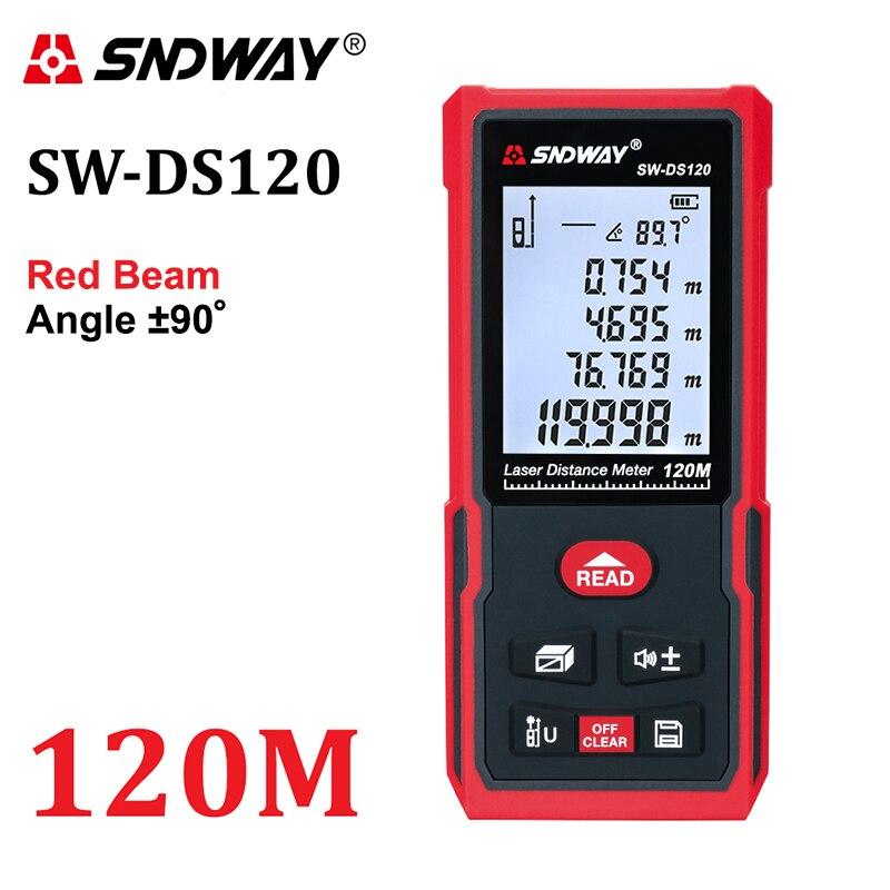 SNDWAY Laser Abstand Meter Reichweite finder 120m 100m 70m 50m Trena Laser-entfernungsmesser Maßband Gerät roulette Werkzeuge Herrscher