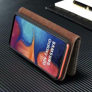 Image 5 - 2 w 1 pokrywa dla Samsung Galaxy A10 A20 A30 A40 A50 A70 A30S A50S etui z prawdziwej skóry odpinany etui flip wallet skóry książki A51 A71 torba