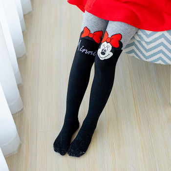 Disney Girls Pantyhose Minnie Tight Children Stockings Cotton Tights for Cute Micky Kids - discount item  26% OFF Children's Clothing