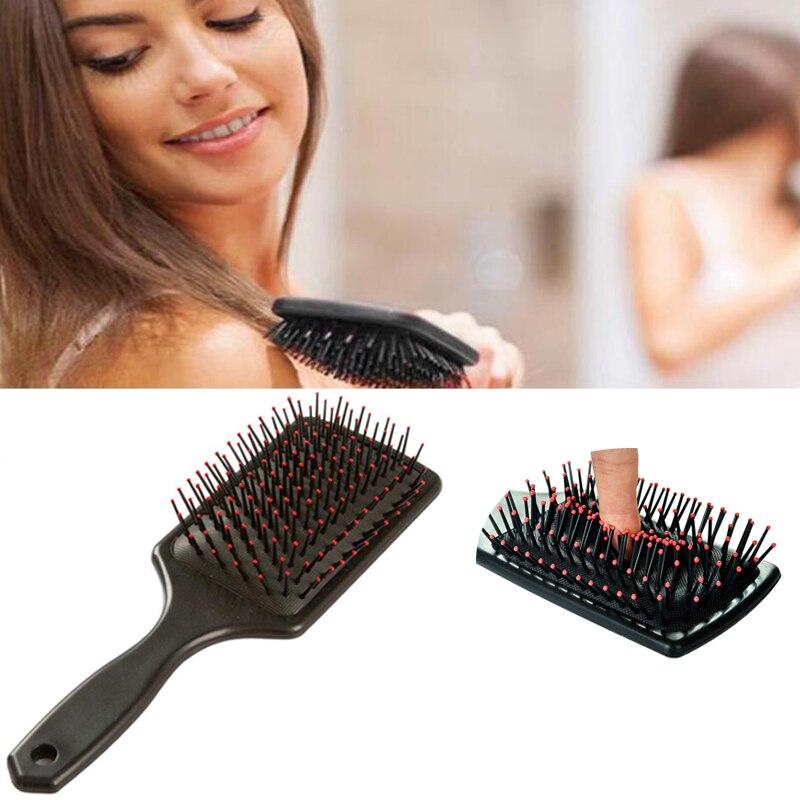 1 Pc Professional Large Paddle Cushion Hair Brush Magic Comb Women Tangle Hairdressing Salon Detangling SPA Lice Massage Com