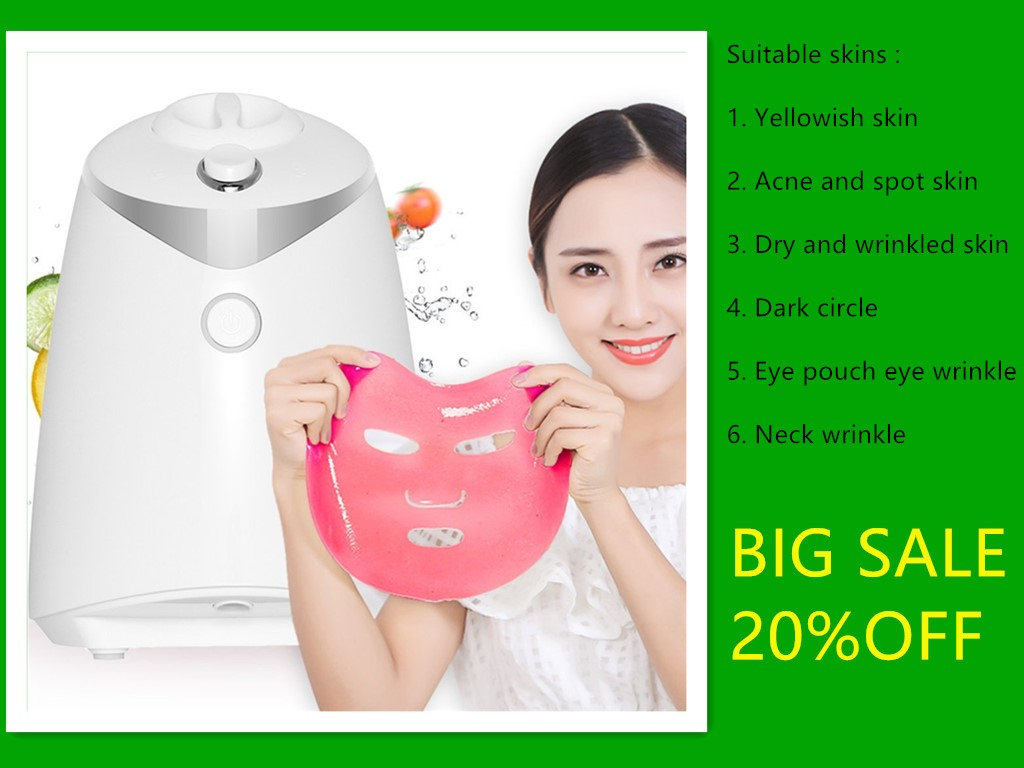 Fruit Vegetable Facial Mask Maker Face Fruit Mask Machine Face Skin Care Tool DIY Automatic Natural Collagen Beauty Facial SPA image