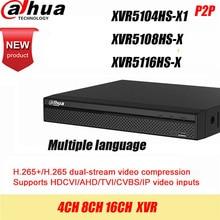 Dahua DVR XVR5108HS X XVR5116HS X 8ch 16ch עד 6MP H.265S מארט חיפוש דיגיטלי וידאו מקליט קשר מוכר להנחה