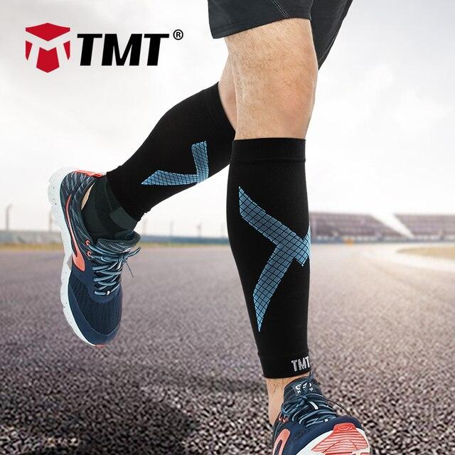 Tmt compressão bezerro manga vôlei de basquete apoio masculino bezerro elástico ciclismo perna aquecedores corrida futebol esporte manga perna 1