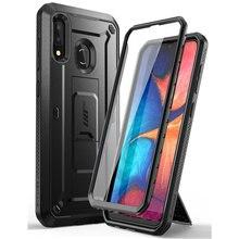 Étui pour Samsung Galaxy A20 /A30 étui UB Pro coque robuste avec protection décran intégrée et béquille
