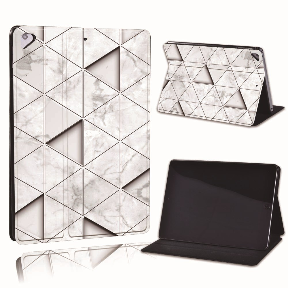 20.grey triangle Palegoldenrod For Apple iPad 8 10 2 2020 8th 8 Generation A2428 A2429 PU Leather Tablet Stand
