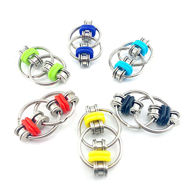 Toys Bike-Chain Fidget-Toy Autism Stress Hands ADHD Children for Funny 1PC 5-Colors Creative img2