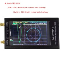 NanoVNA-F VNA HF VHF УВЧ векторная сетевая антенна анализатор+ 4,3 дюймов ips lcd+ металлический чехол+ аккумулятор 5000 мАч