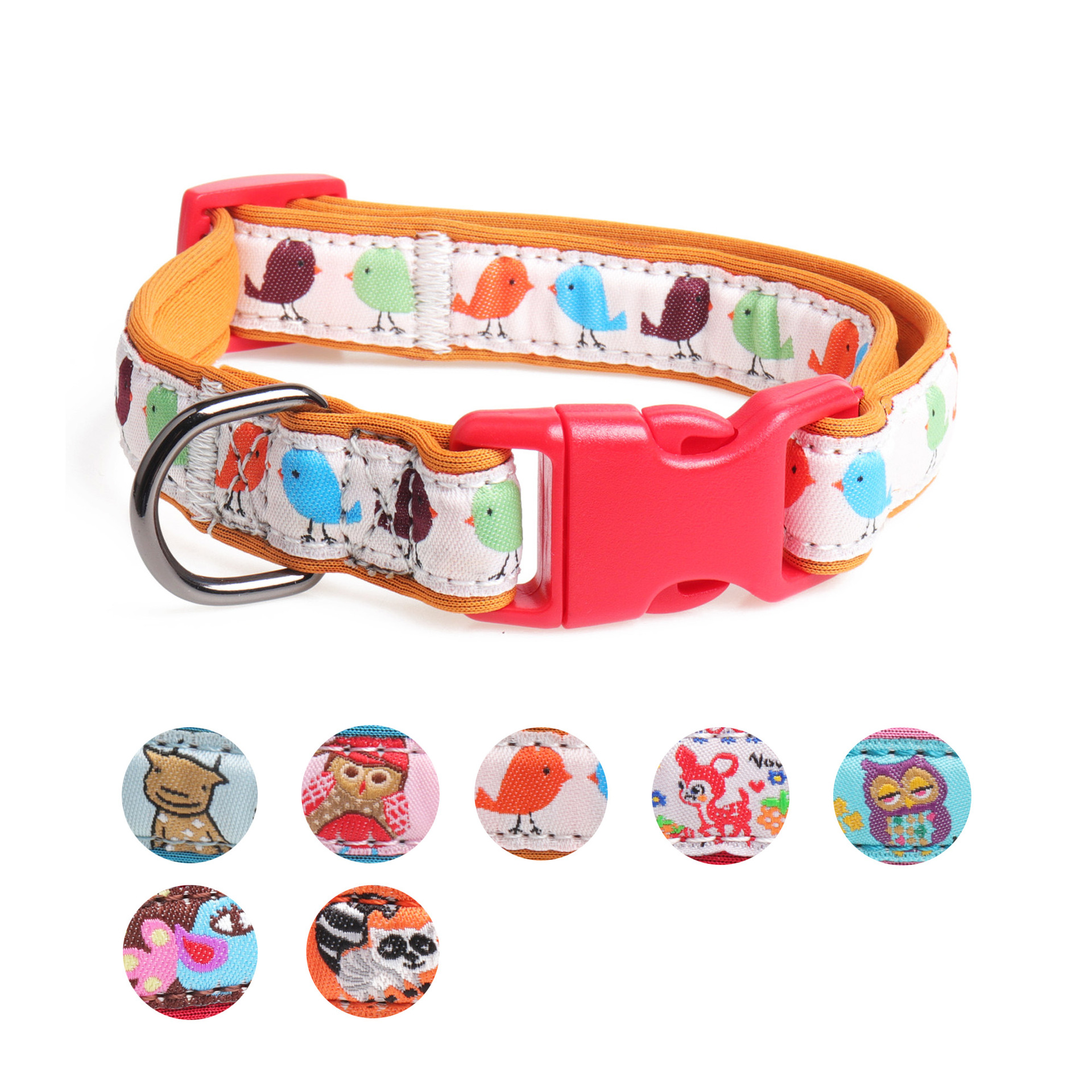 Amin Lattice Manufacturers Hot Selling New Products Release Buckle Diving Cloth Pet Collar Dog Neck Ring