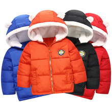 купить 2019 Autumn Winter Warm Jackets For Girls Coats For Boys Jackets Baby Girls Jackets Kids Hooded Outerwear Coat Children Clothes дешево