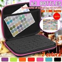 Essential Oil Storage Bag 63 Bottles EVA For 1 3 ml Essence Oil Bottles Box Carrying Case Travel Home Portable Handbag Organizer|Storage Boxes & Bins| |  -