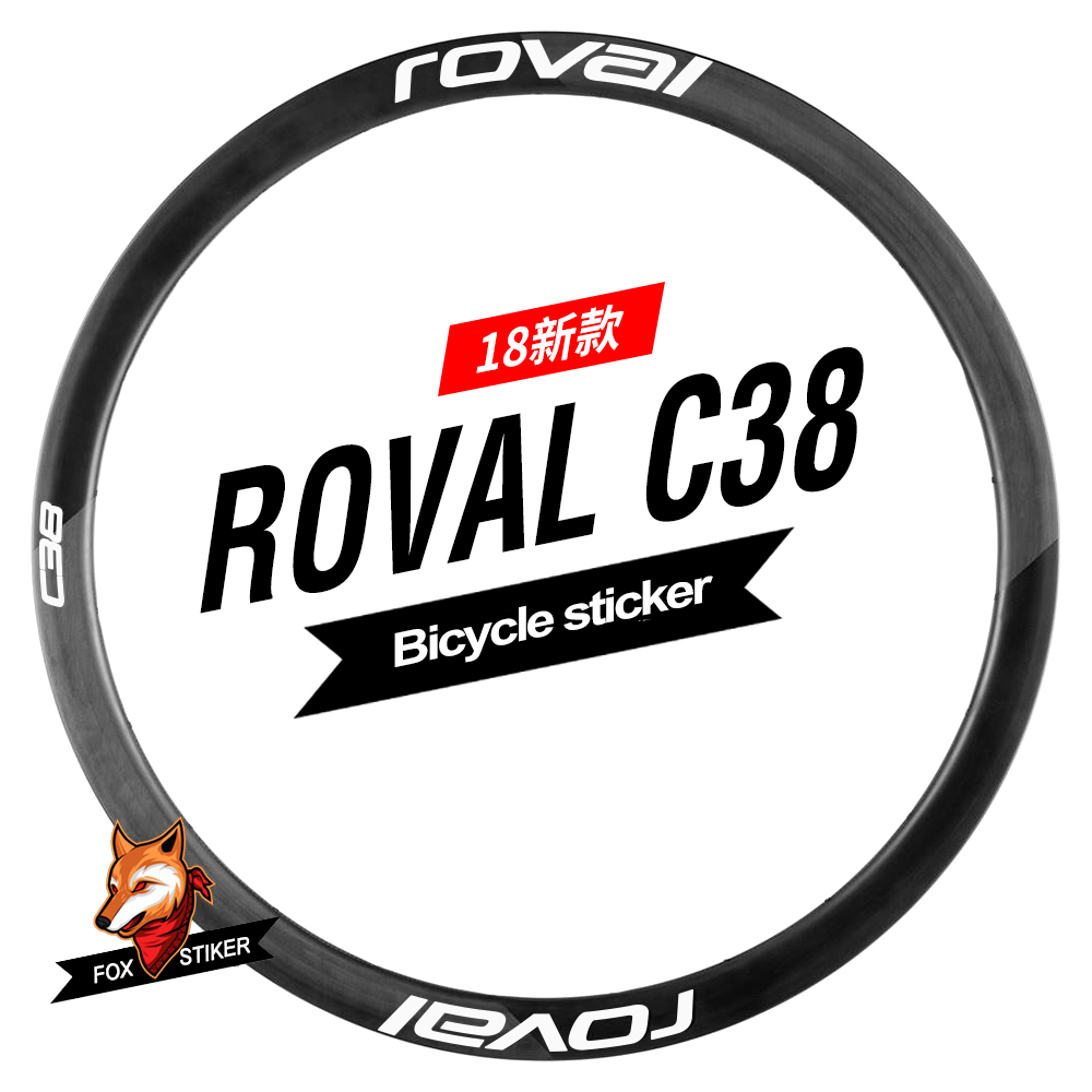 700C 38mm bicycle rim wheel sticker reflective wheels decal for bontragerpro 3