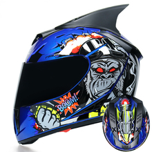 Full Face Motorcycle Helmet Washable Lining Dual Lens Stylish Fast Release Racin