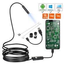 Yeni 1080P Full HD Mini Android kamera endoskop IP67 1920*1080 2m 5m mikro USB muayene Video kamera yılan Borescope tüp