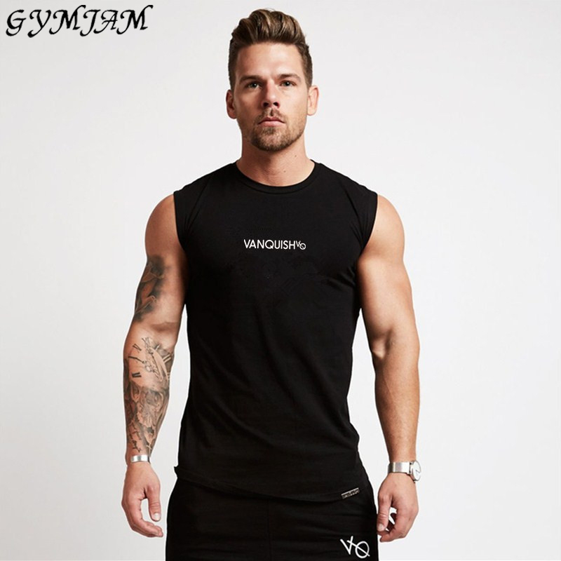 Jogger Cotton Sleeveless Outdoor Casual Shirt Summer Men's Vest Fashion Fitness Sports Vest Brand Men's Sportswear