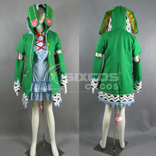 Anime data A LIVE Yoshino Cosplay kostiumy komplet śliczny zielony Elf sukienka do odgrywania ról odzież High-End Custom Make dowolny rozmiar(China)