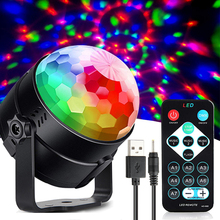 USB DC 5V colorful effect disco stage light IR control ktv d