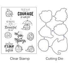 Zhuoang мультяшный ежик прозрачные штампы для скрапбукинга/изготовления