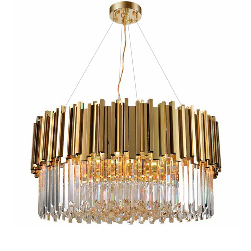 New Modern Lighting Chandelier Luxurious Crystal Chandelier For Living Room Dining Room Gold Crystal Chandelier LED Lights