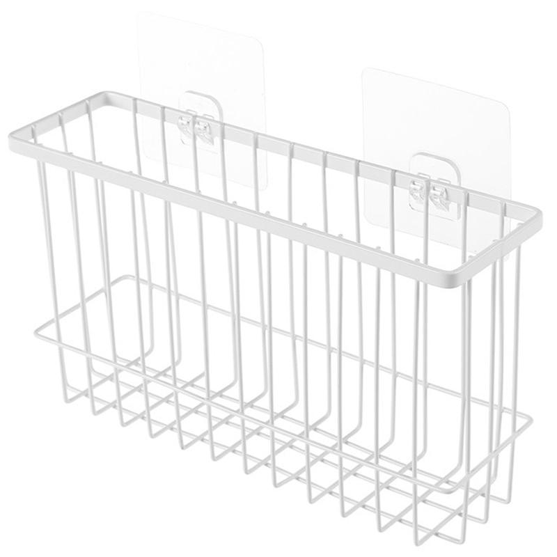 Japanese Wrought Iron Wall-Mounted Storage Basket Bathroom Storage Basket Drain Basket Kitchen Bracket