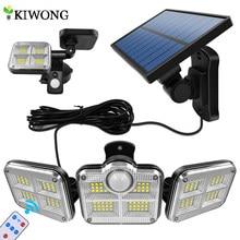 Luces solares de brillo intenso, 20w, 120LED, IP65, impermeable, exterior, interior, lámpara Solar con cabezal ajustable, gran ángulo de iluminación