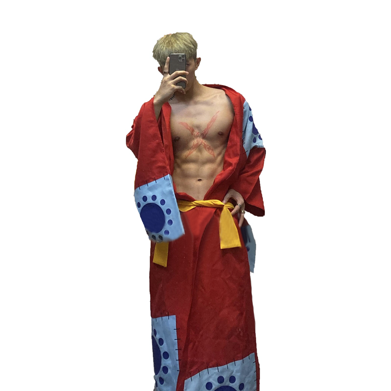 Customize One Piece Luffy Wano Country Arc Cosplay Costume Yukata Outfit