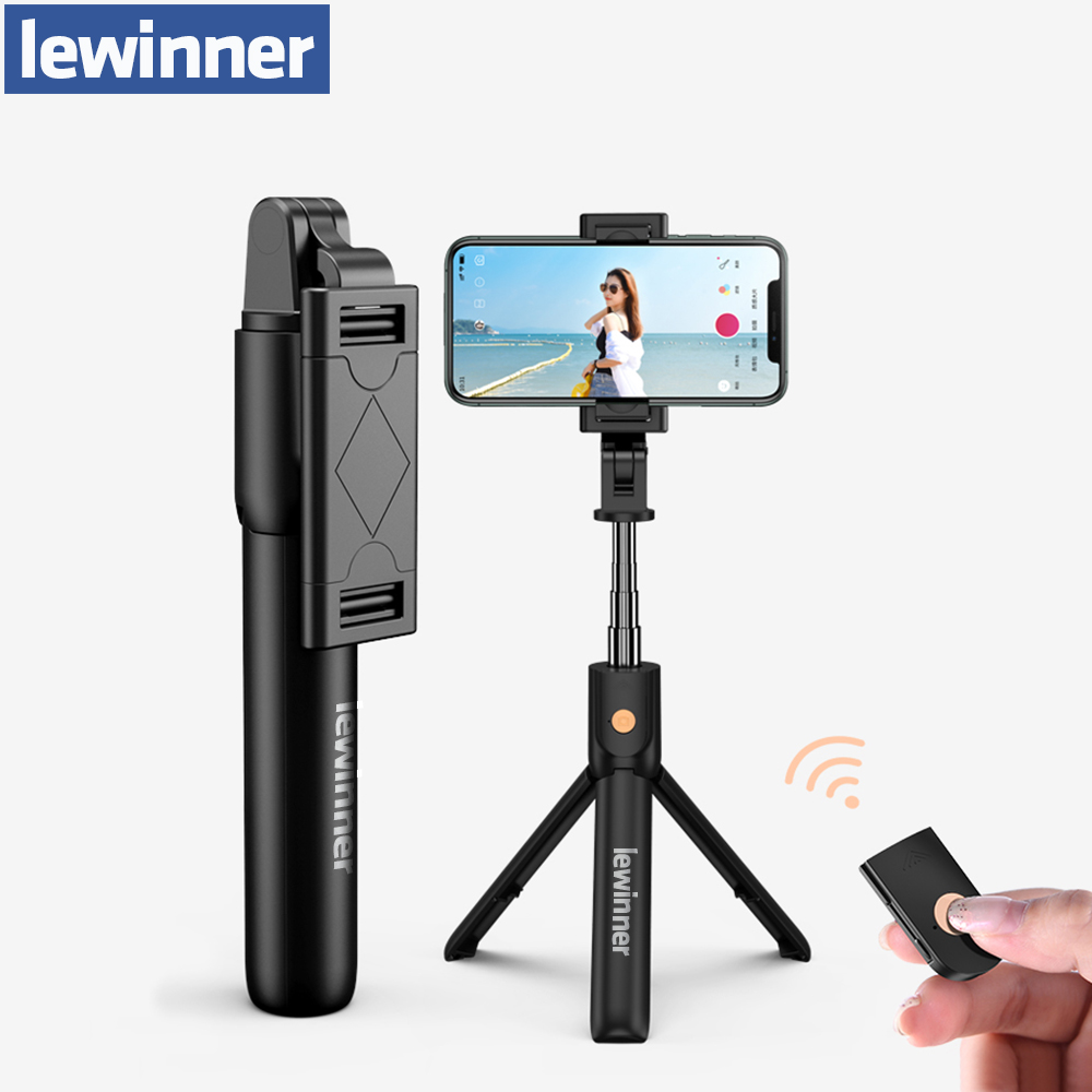 Lewinner K07 3 In 1 Wireless Bluetooth Selfie Stick Mini Tripod Extendable Monopod Universal For IPhone For Samsung/Huawei
